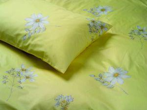 Bettwäsche Baumwoll-Satin bedruckt MARGARITEN gelb